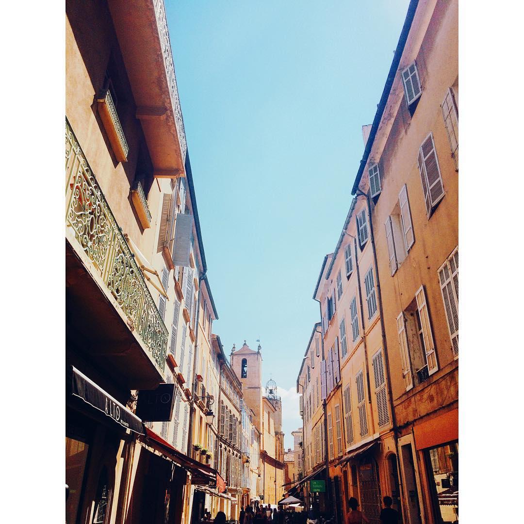 les rues d'Aix en Provence